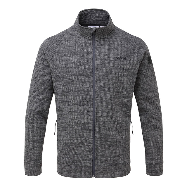 Simpson Mens Knit Look Fleece Jacket - Light Grey Marl image 1