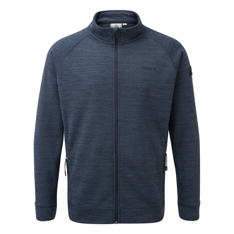 Simpson Mens Knit Look Fleece Jacket - Naval Blue Marl