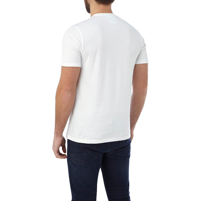 Kelton Mens Graphic T-Shirt Powerhouse - White image 3