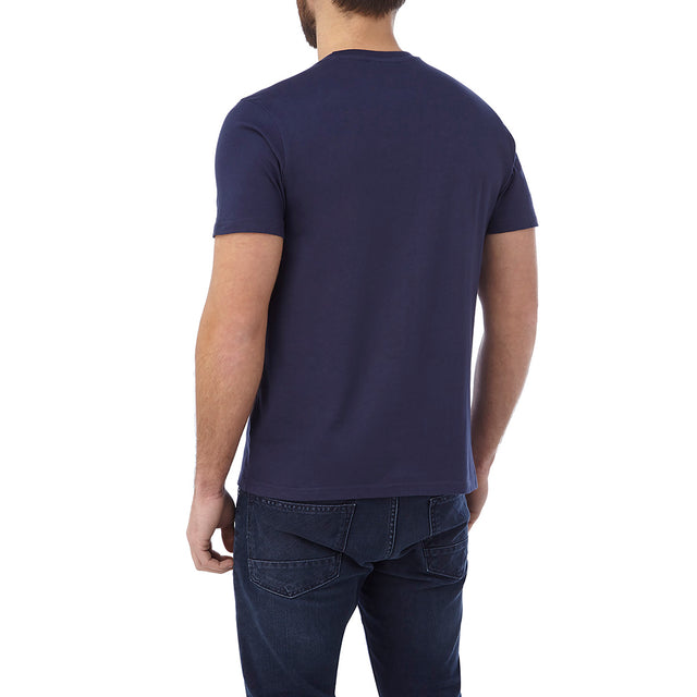 Kelton Mens Graphic T-Shirt Blonder - Navy image 3