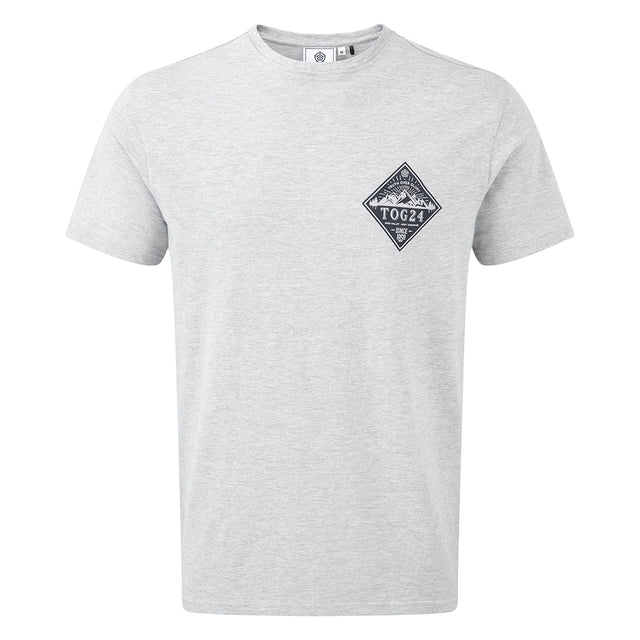 Kelton Mens Graphic T-Shirt Diamond - Grey Marl image 1