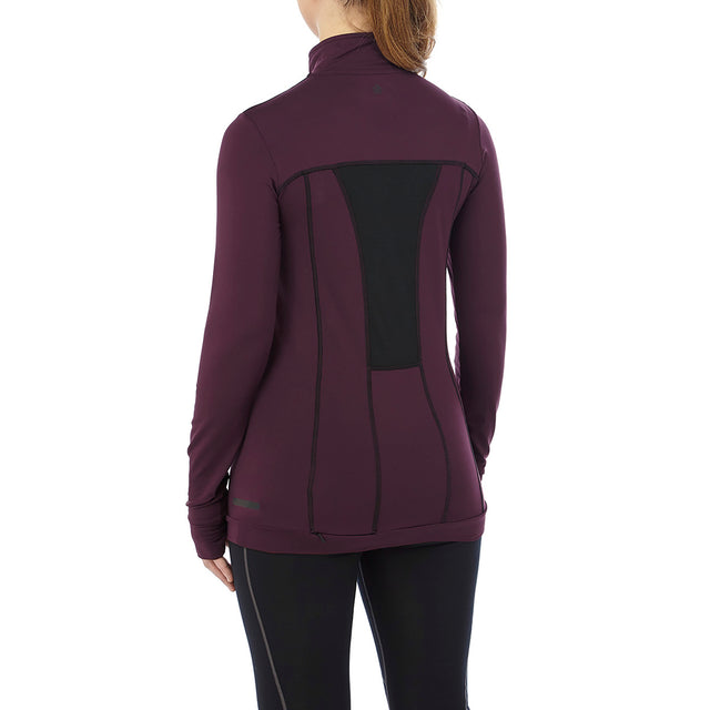 Sophia Womens Stretch Performance Zipneck - Deep Port image 3