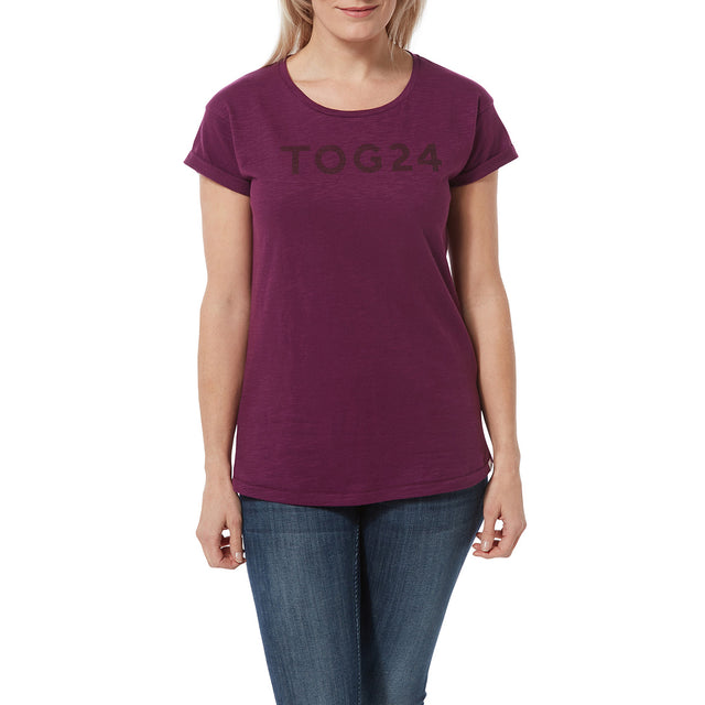 Sowden Womens T-Shirt - Mulberry image 2