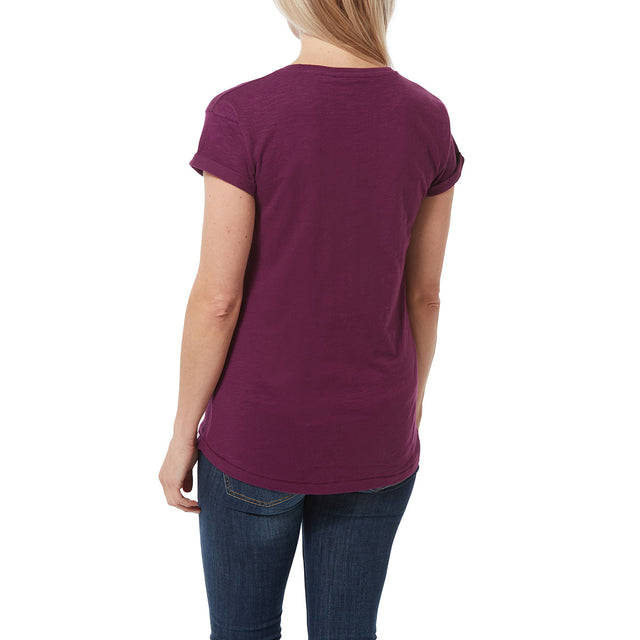 Sowden Womens T-Shirt - Mulberry image 3