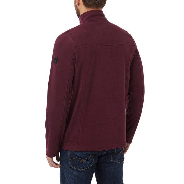 Spen Mens Microfleece Zipneck - Deep Port image 3