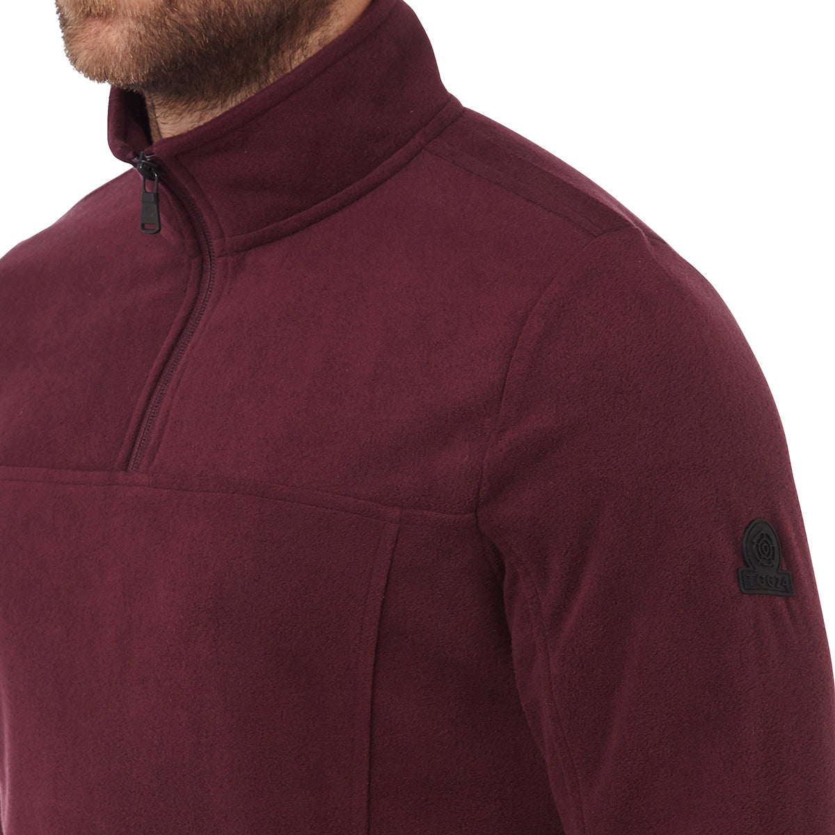 Spen Mens Microfleece Zipneck - Deep Port image 4
