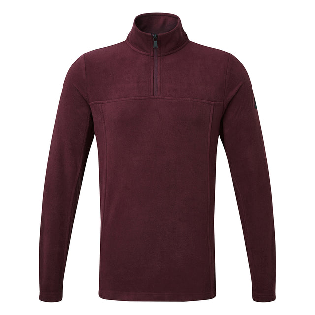 Spen Mens Microfleece Zipneck - Deep Port image 1