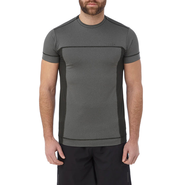 Sprint Mens Performance T-Shirt - Grey Marl image 2