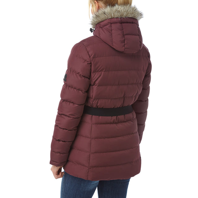 Storey Womens Long Insulated Jacket - Deep Port image 3