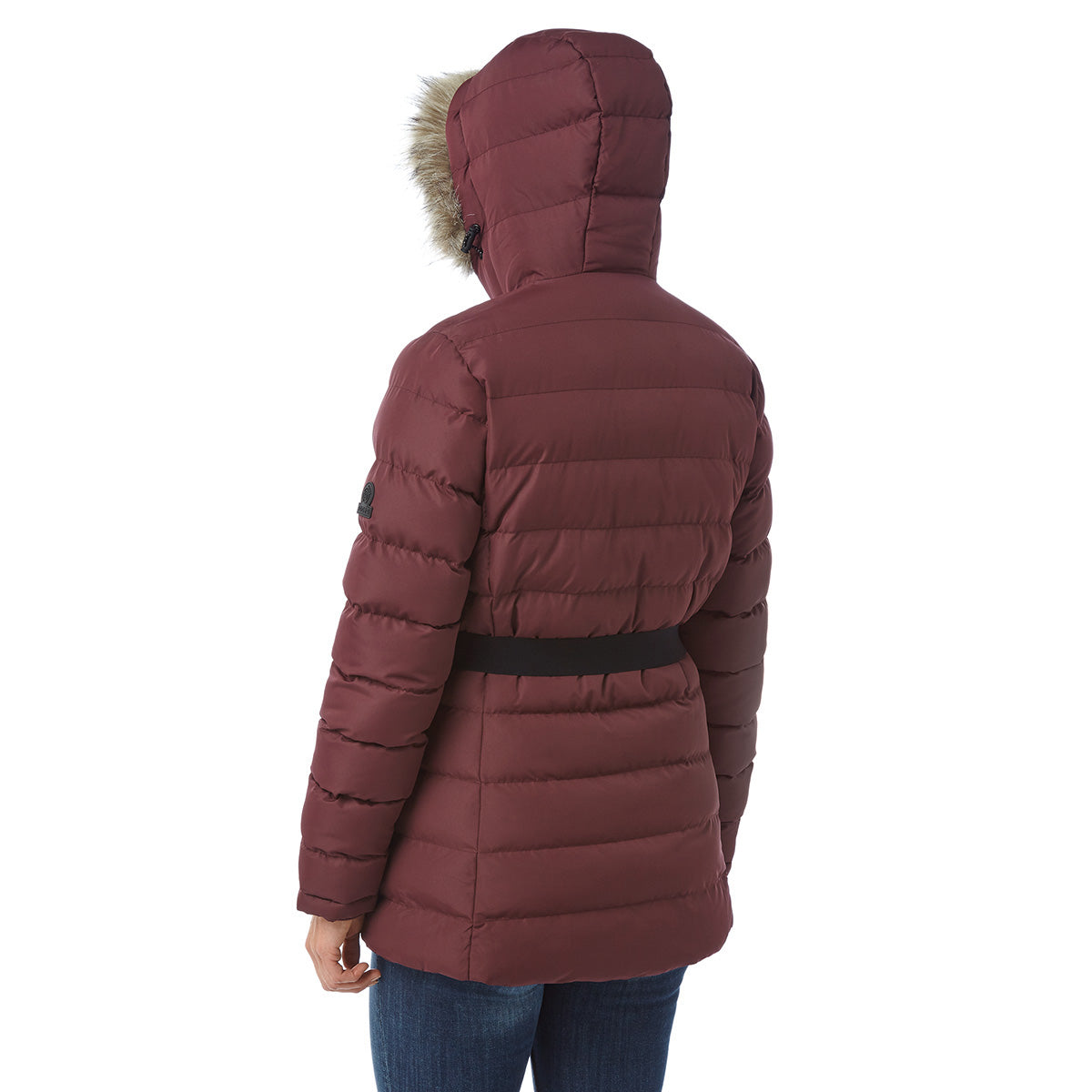 Storey Womens Long Insulated Jacket - Deep Port image 4