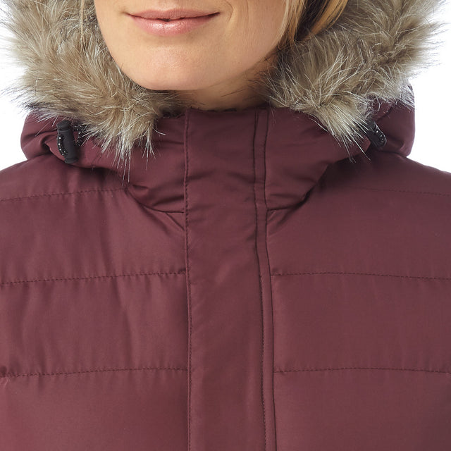 Storey Womens Long Insulated Jacket - Deep Port image 5