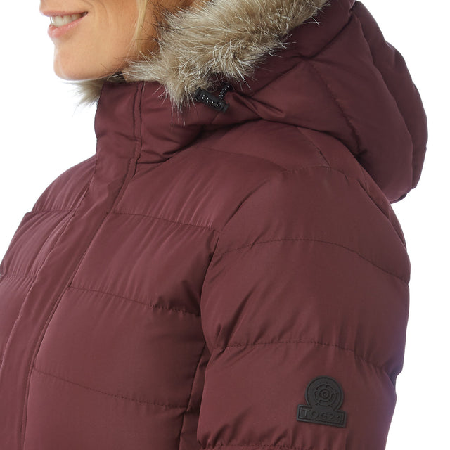 Storey Womens Long Insulated Jacket - Deep Port image 6