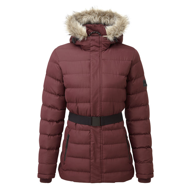 Storey Womens Long Insulated Jacket - Deep Port image 1