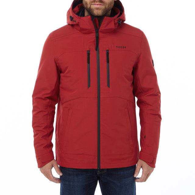Strike Mens Milatex 3-In-1 Jacket - Chilli Red image 2