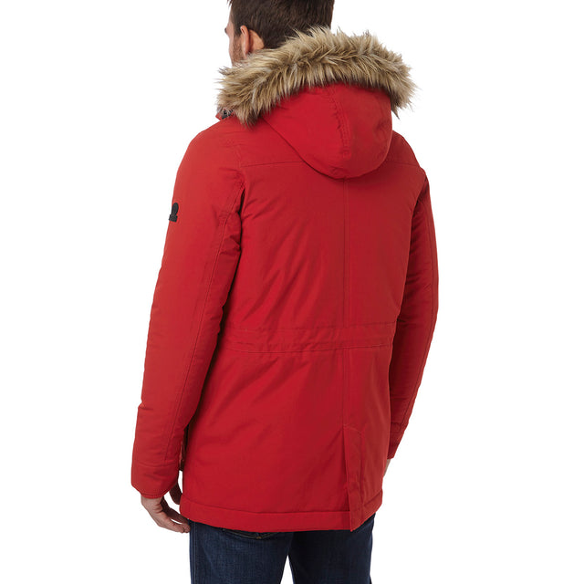 Superior Mens Milatex Jacket - Chilli Red image 3
