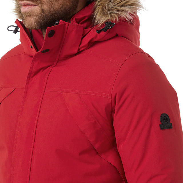 Superior Mens Milatex Jacket - Chilli Red image 5