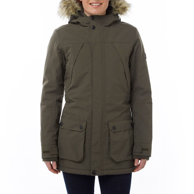 Superior Womens Milatex Jacket - Dark Khaki image 2