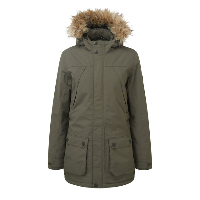 Superior Womens Milatex Jacket - Dark Khaki image 1