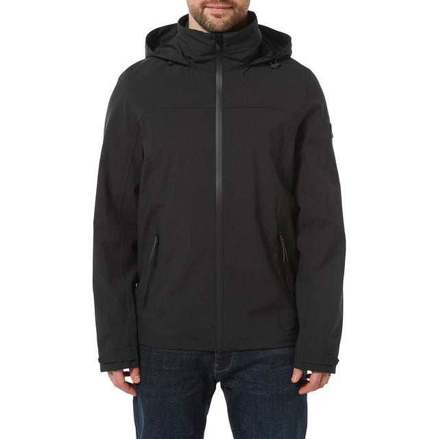 Sykes Mens Performance Waterproof Jacket - Black image 2