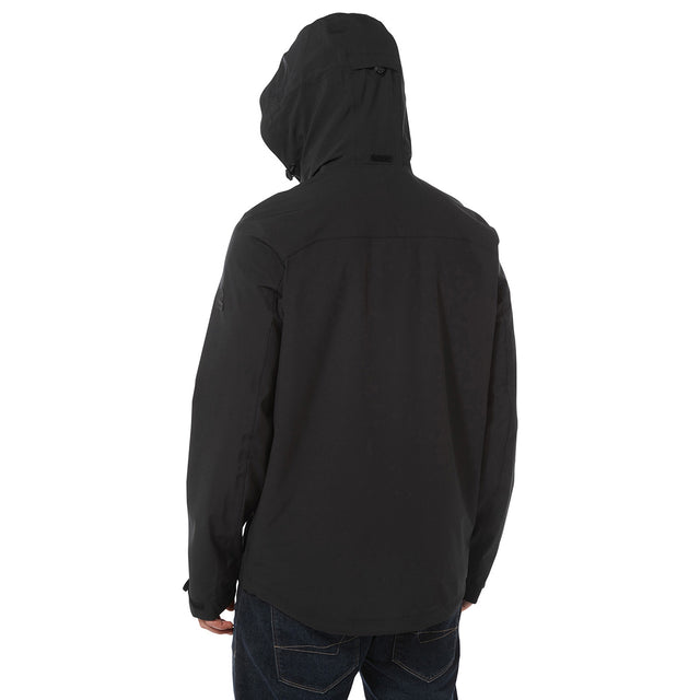 Sykes Mens Performance Waterproof Jacket - Black image 3