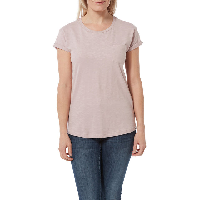 Syms Womens T-Shirt - Chalk Pink image 2