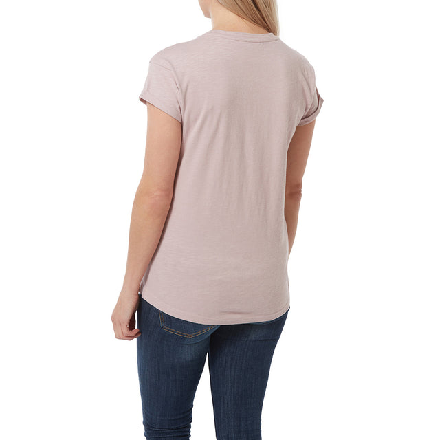 Syms Womens T-Shirt - Chalk Pink image 3