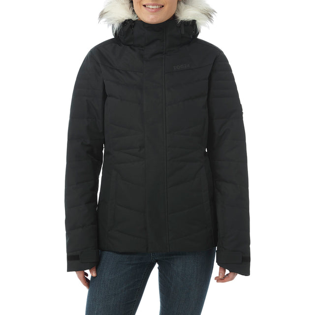 Tidal Womens Down Ski Jacket - Black image 2