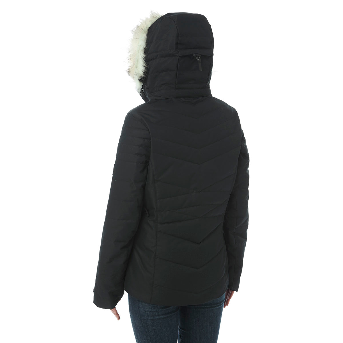Tidal Womens Down Ski Jacket - Black image 4