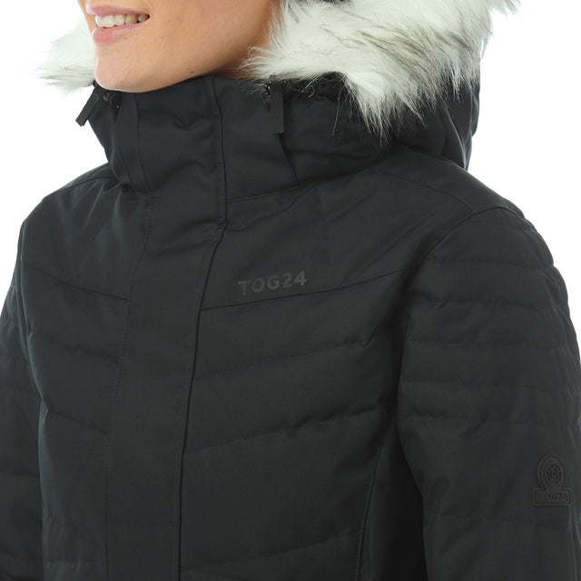 Tidal Womens Down Ski Jacket - Black image 5