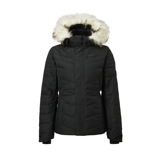 Tidal Womens Down Ski Jacket - Black image 1