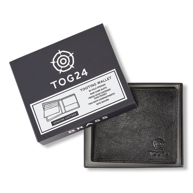 Tooting Leather Wallet - Black image 1