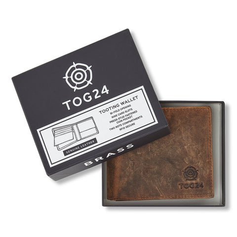 Tooting Leather Wallet - Dark Brown