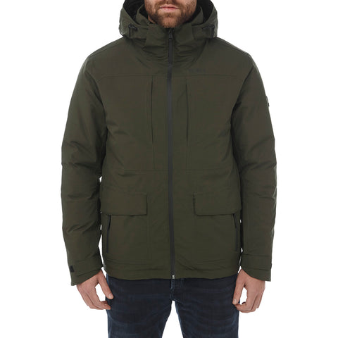 Tor Mens Waterproof Down Insulated Jacket - Dark Khaki