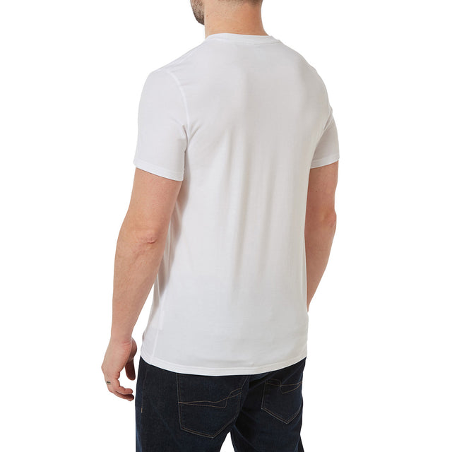 Towler Mens Performance Graphic T-Shirt - Optic White image 3