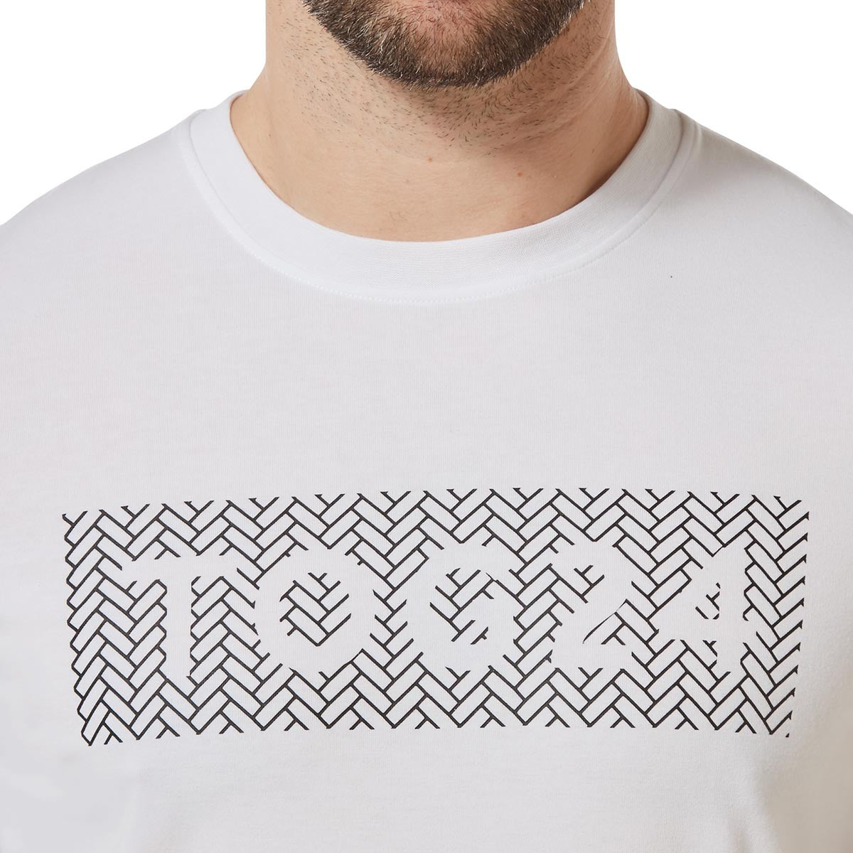 Towler Mens Performance Graphic T-Shirt - Optic White image 4