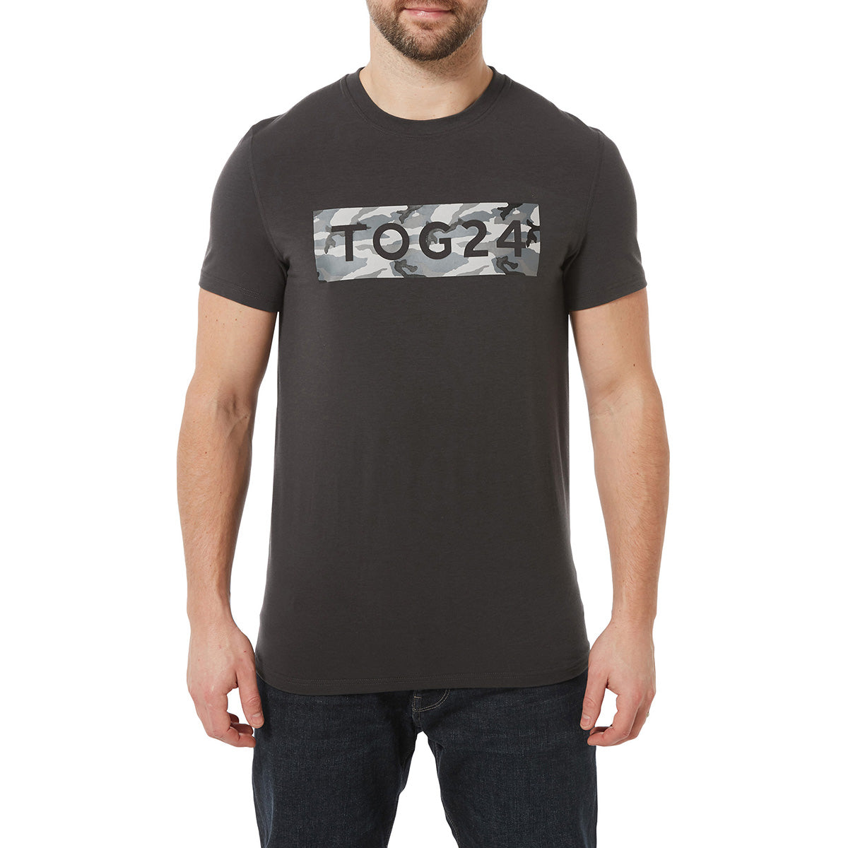Towler Mens Performance Graphic T-Shirt - Charcoal