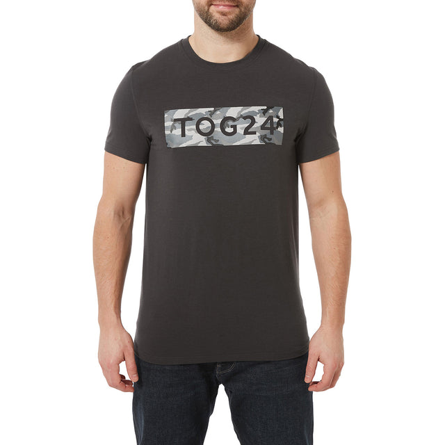 Towler Mens Performance Graphic T-Shirt - Charcoal image 2