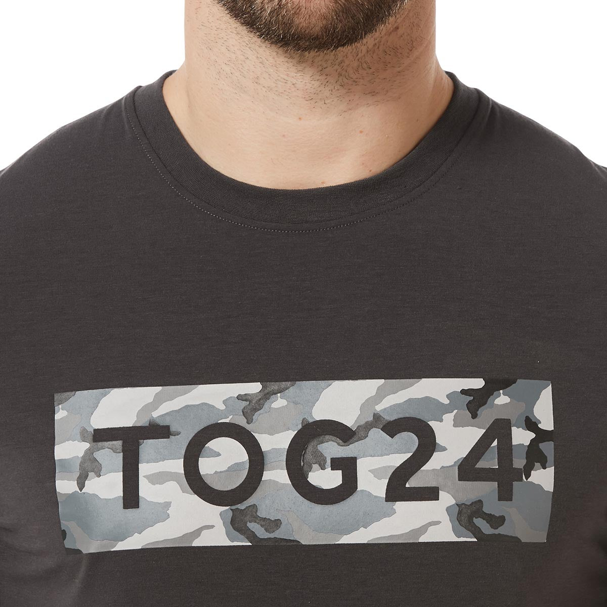 Towler Mens Performance Graphic T-Shirt - Charcoal image 4