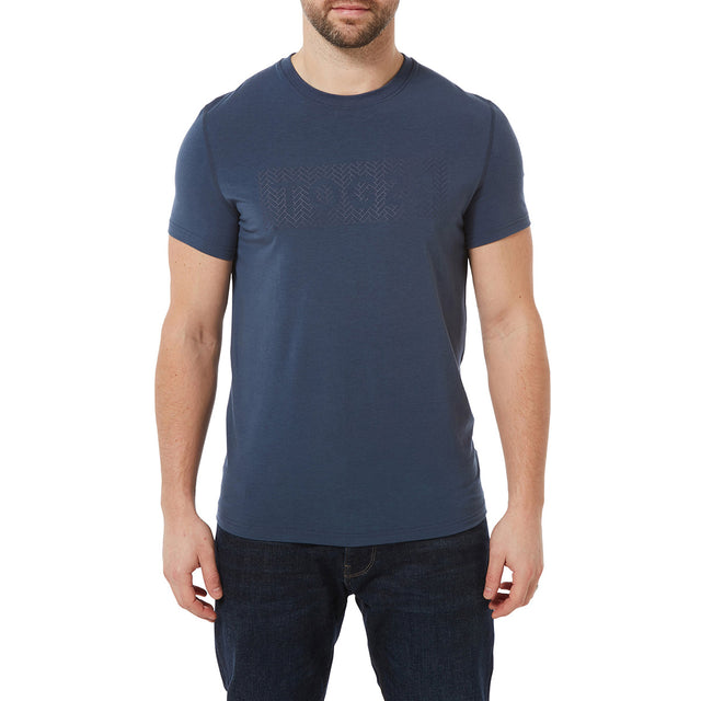 Towler Mens Performance Graphic T-Shirt - Denim image 2