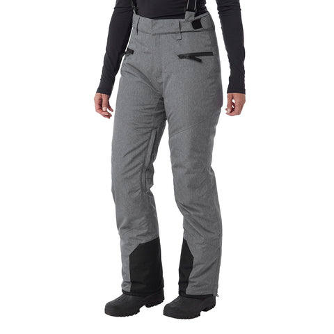 Trinity Womens Waterproof Insulated Ski Pants - Grey Marl
