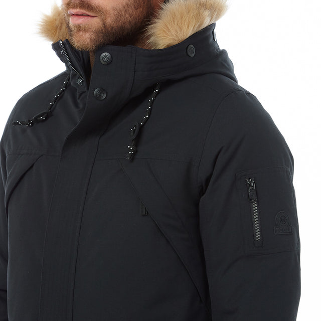 Ultimate Mens Milatex/Down Jacket - Black image 5