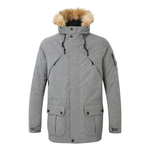 Ultimate Mens Milatex/Down Jacket - Grey Marl image 1