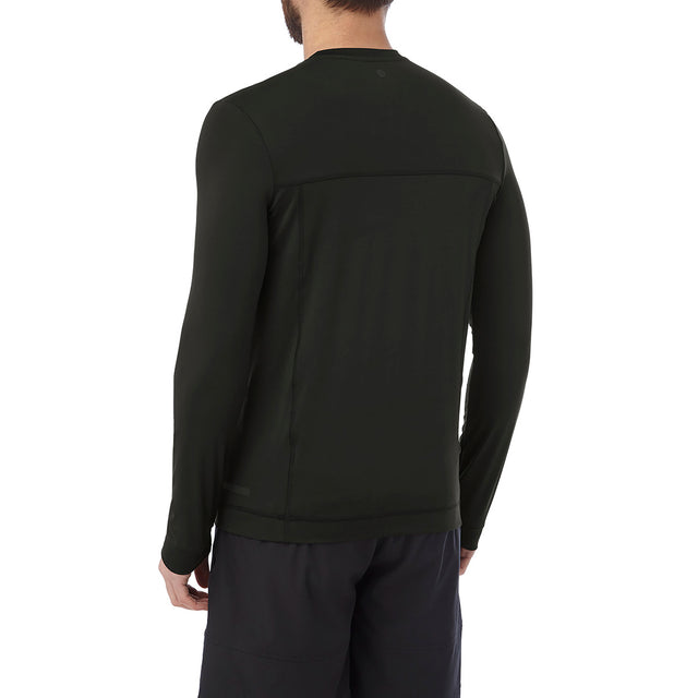 Vault Mens Long Sleeve Performance T-Shirt - Black image 3