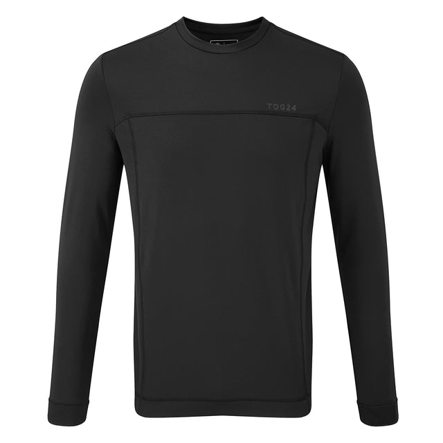 Vault Mens Long Sleeve Performance T-Shirt - Black image 1