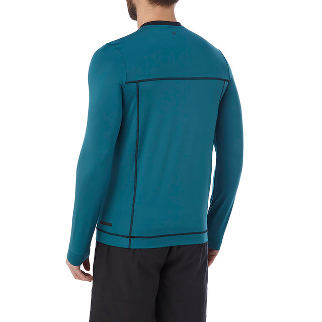 Vault Mens Long Sleeve Performance T-Shirt - Lagoon Blue image 3