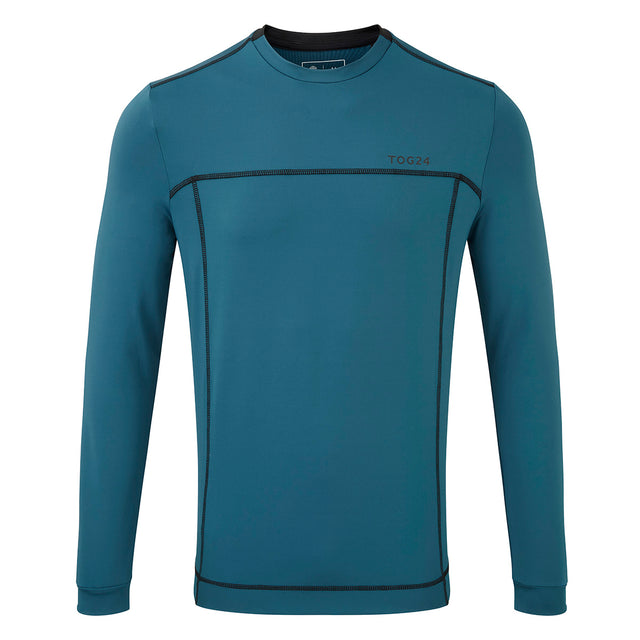Vault Mens Long Sleeve Performance T-Shirt - Lagoon Blue image 1