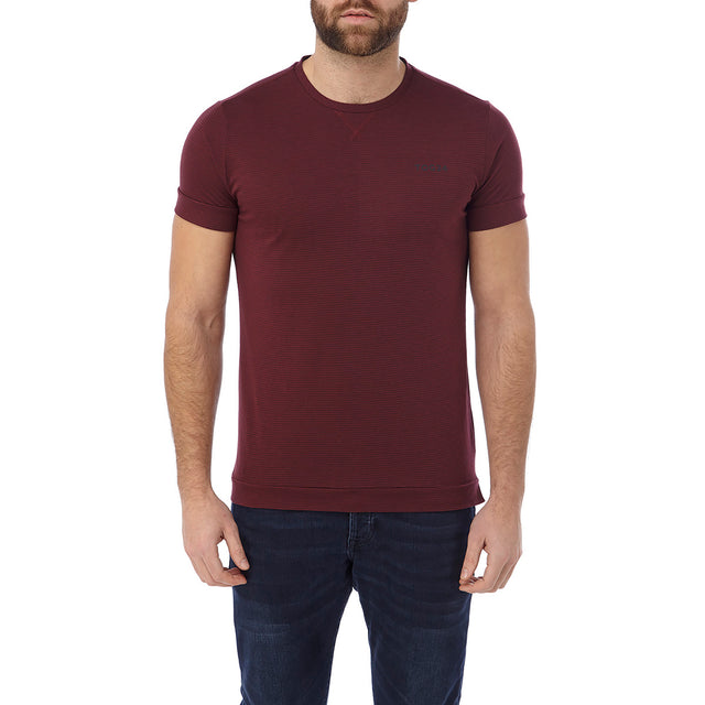 Versus Mens Dri Release T-Shirt - Deep Port Stripe image 2