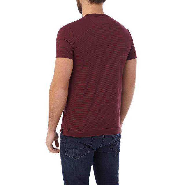 Versus Mens Dri Release T-Shirt - Deep Port Stripe image 3