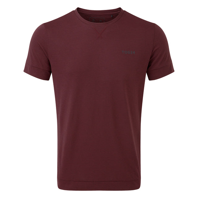 Versus Mens Dri Release T-Shirt - Deep Port Stripe image 1