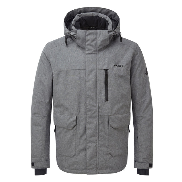 Vertigo Mens Waterproof Insulated Ski Jacket - Grey Marl image 5